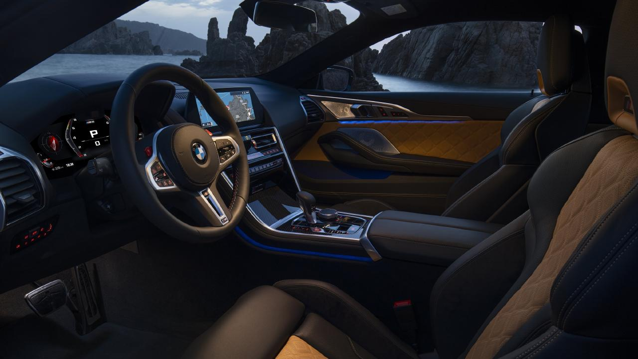 Inside the 2020 BMW M8 Competition.