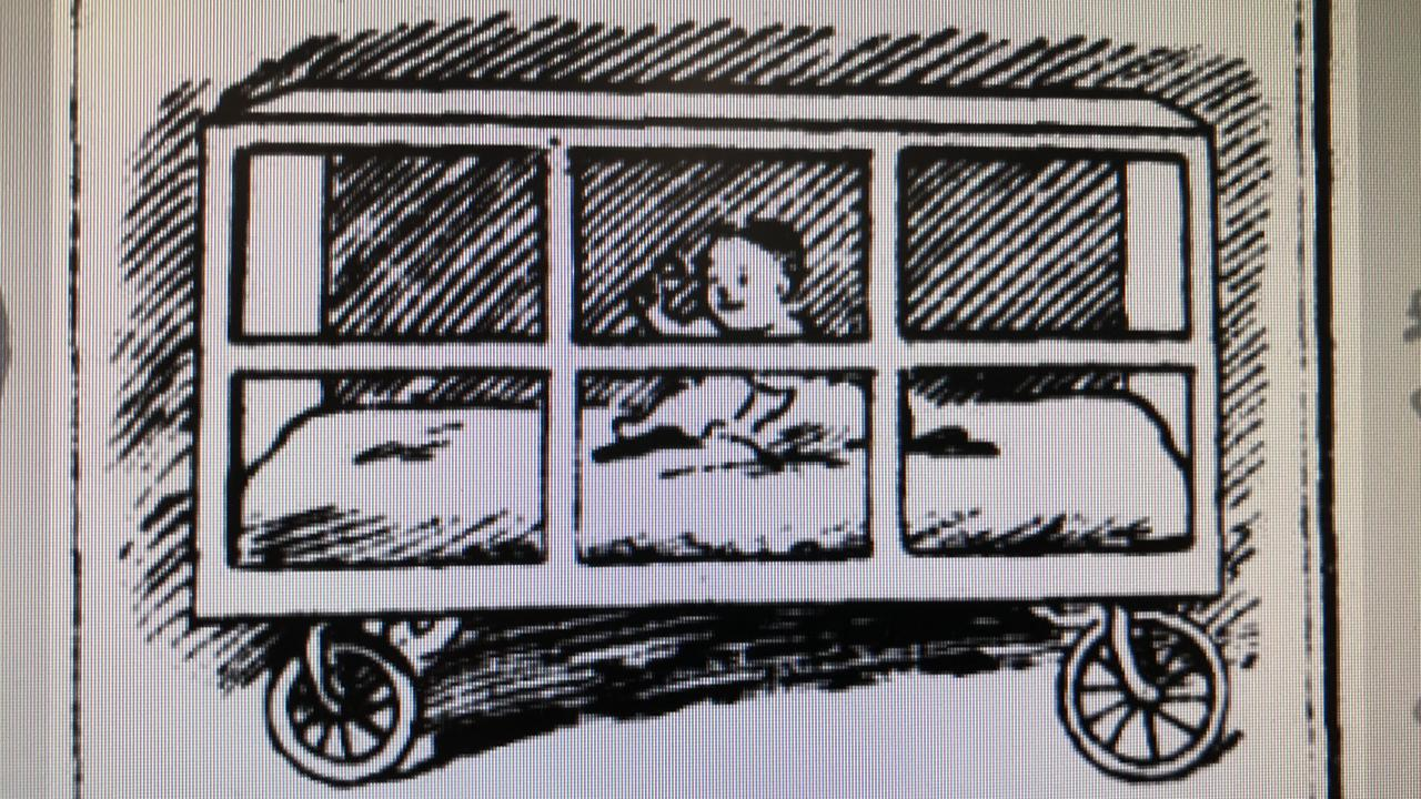 Baby cage on wheels promoted in The Age in April 1923.