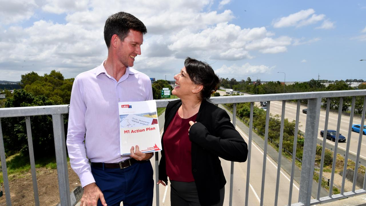Transport Minister Mark Bailey announces an M1 action plan before the last election but is being criticised for failing to secure agreement from the Federal Government before announcing a policy for Bruce Highway upgrades.