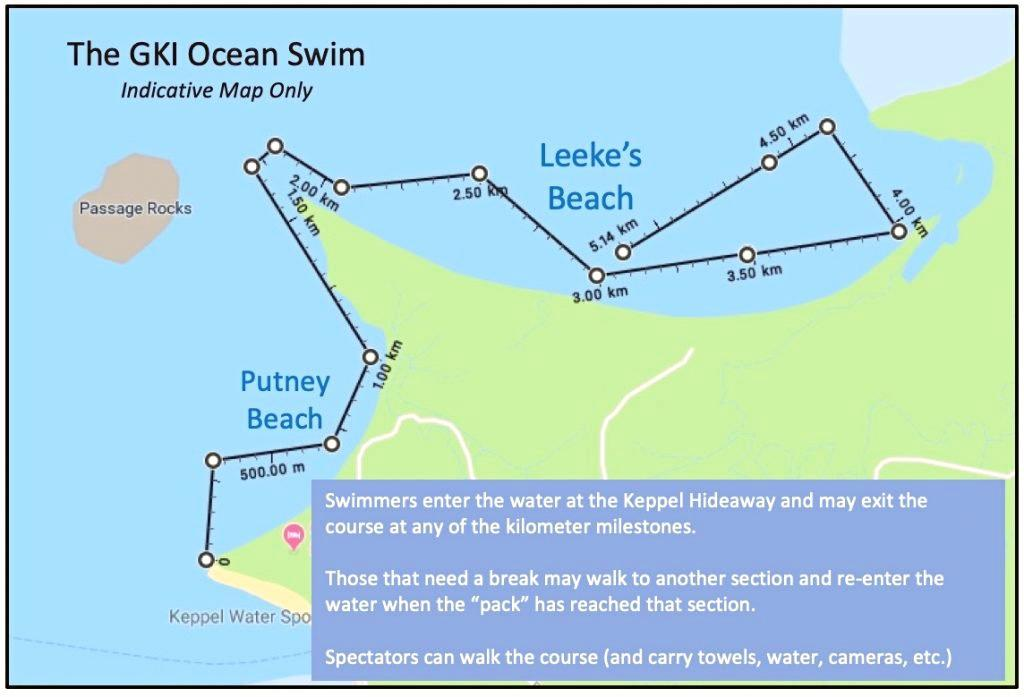 The course for the swim event.