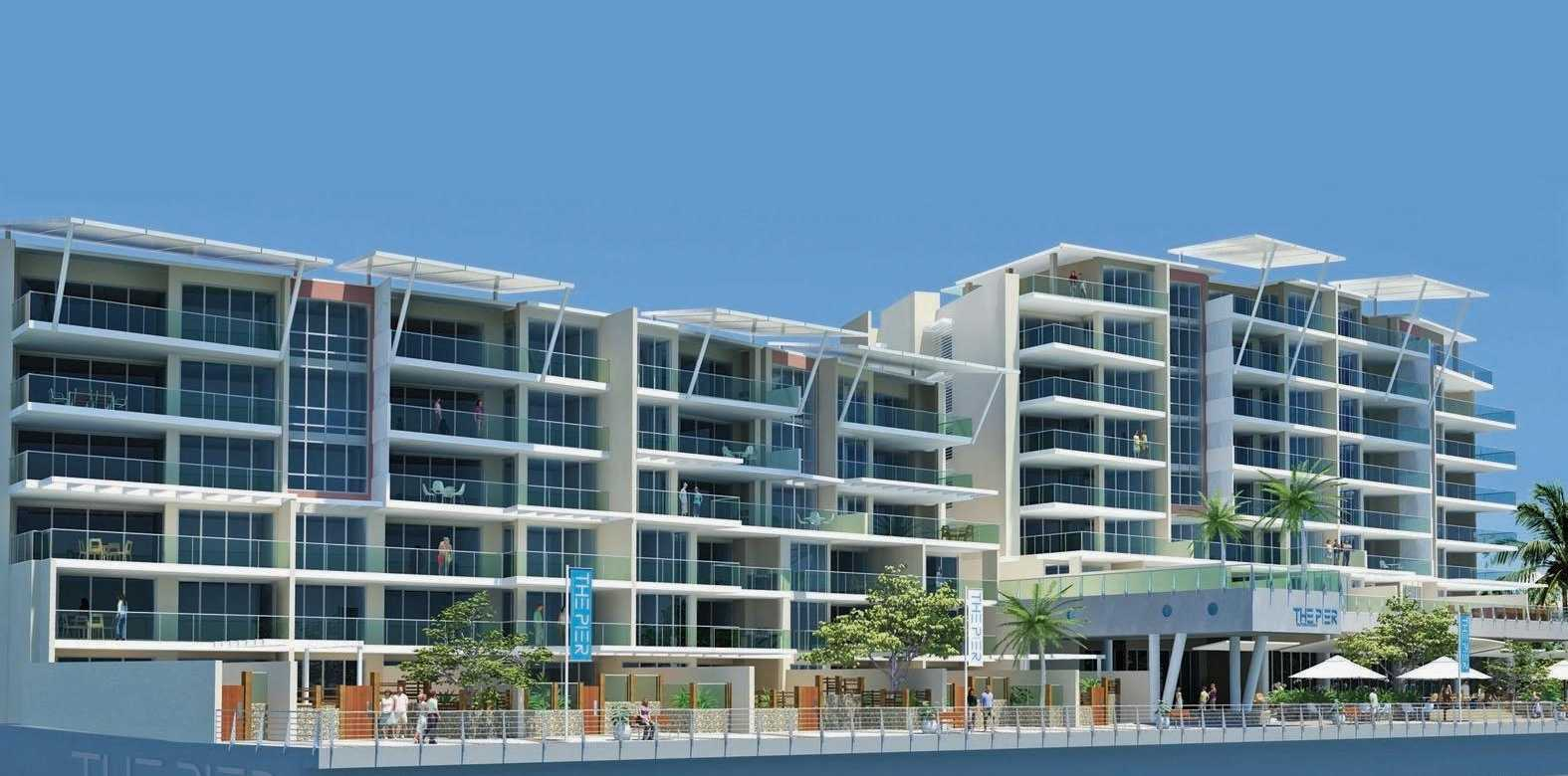 An artist's impression of Graham Caracciolo's proposed development, The Pier.