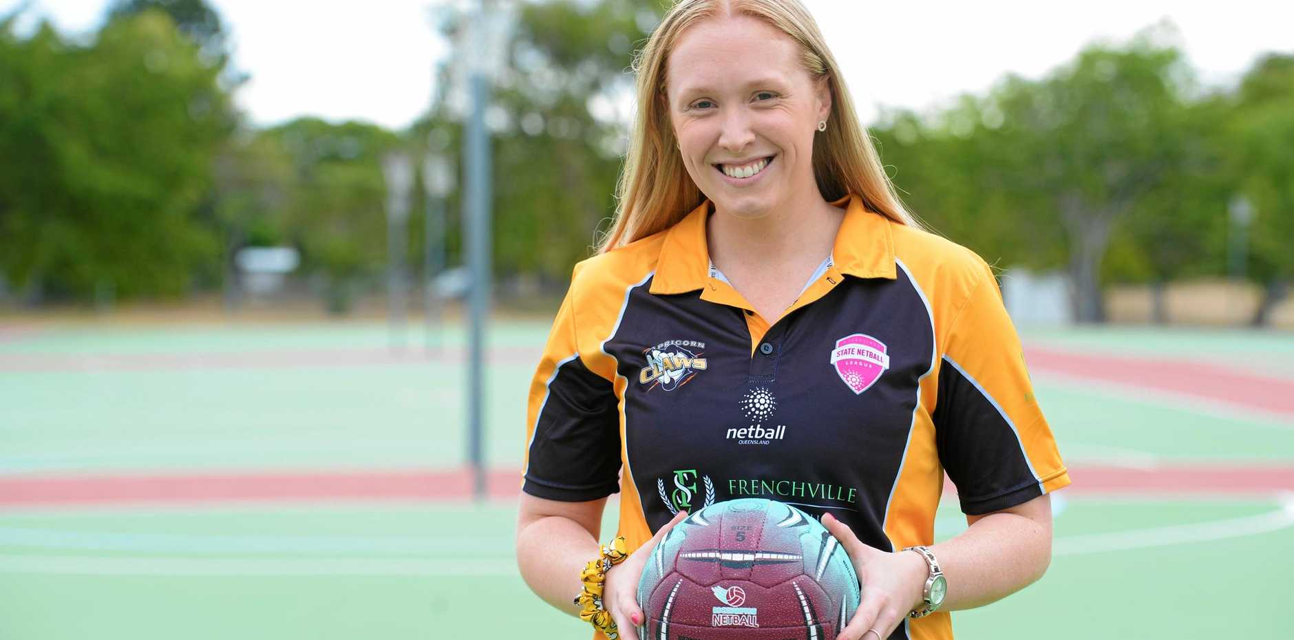 CLAWING AHEAD: Claws player Bridget Fletcher is ready to prove her worth in the Suncorp Super Netball Ruby Series.