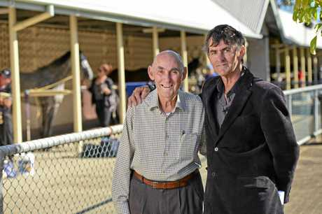 Father and son George and David Sawyers at the Ipswich Turf Club.