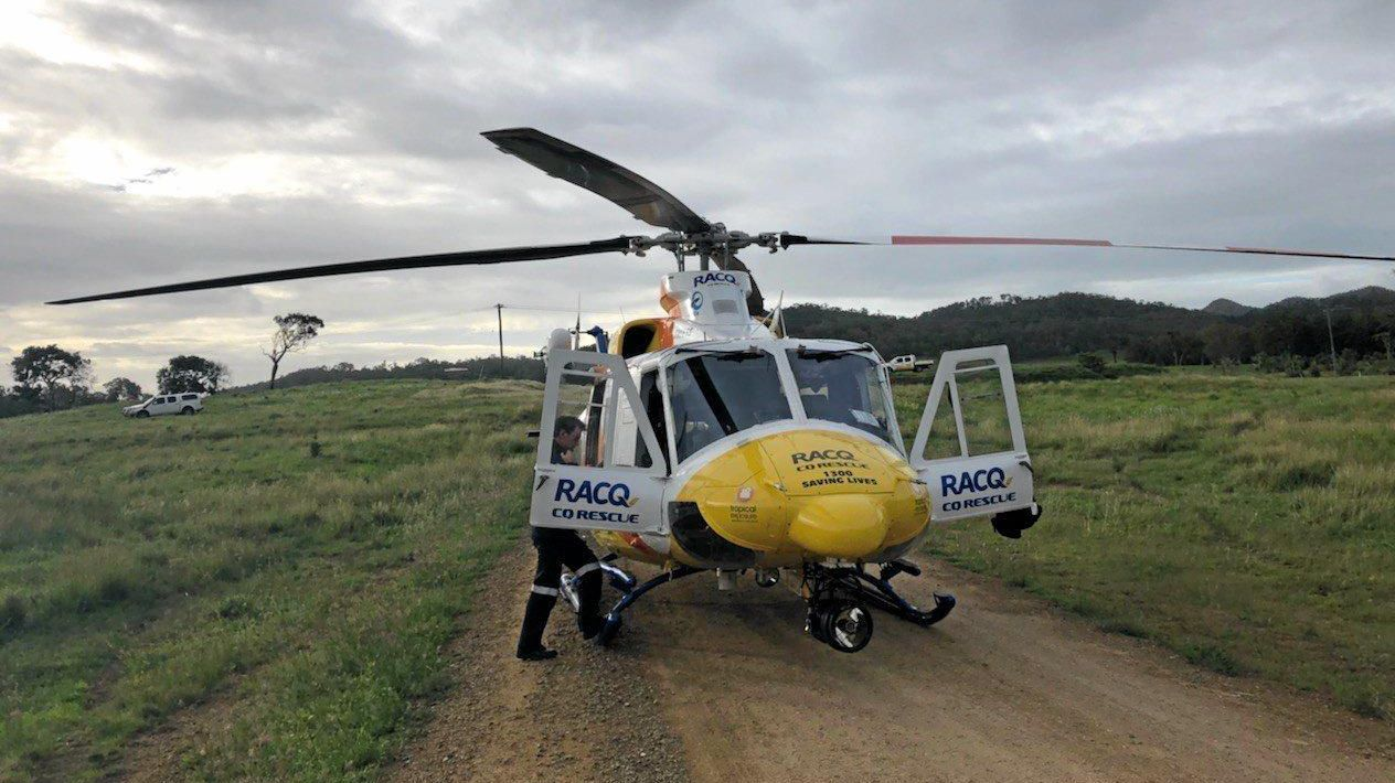 The RACQ CQ Rescue Helicopter will be at the Emergency Services Day at Harrup Park on Sunday.