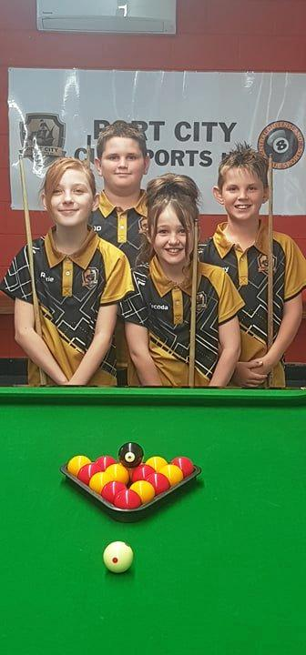 Eightball kids Tecoda Meares, Jaihden Silvester, Roxie Cooper and Bailey Silvester.