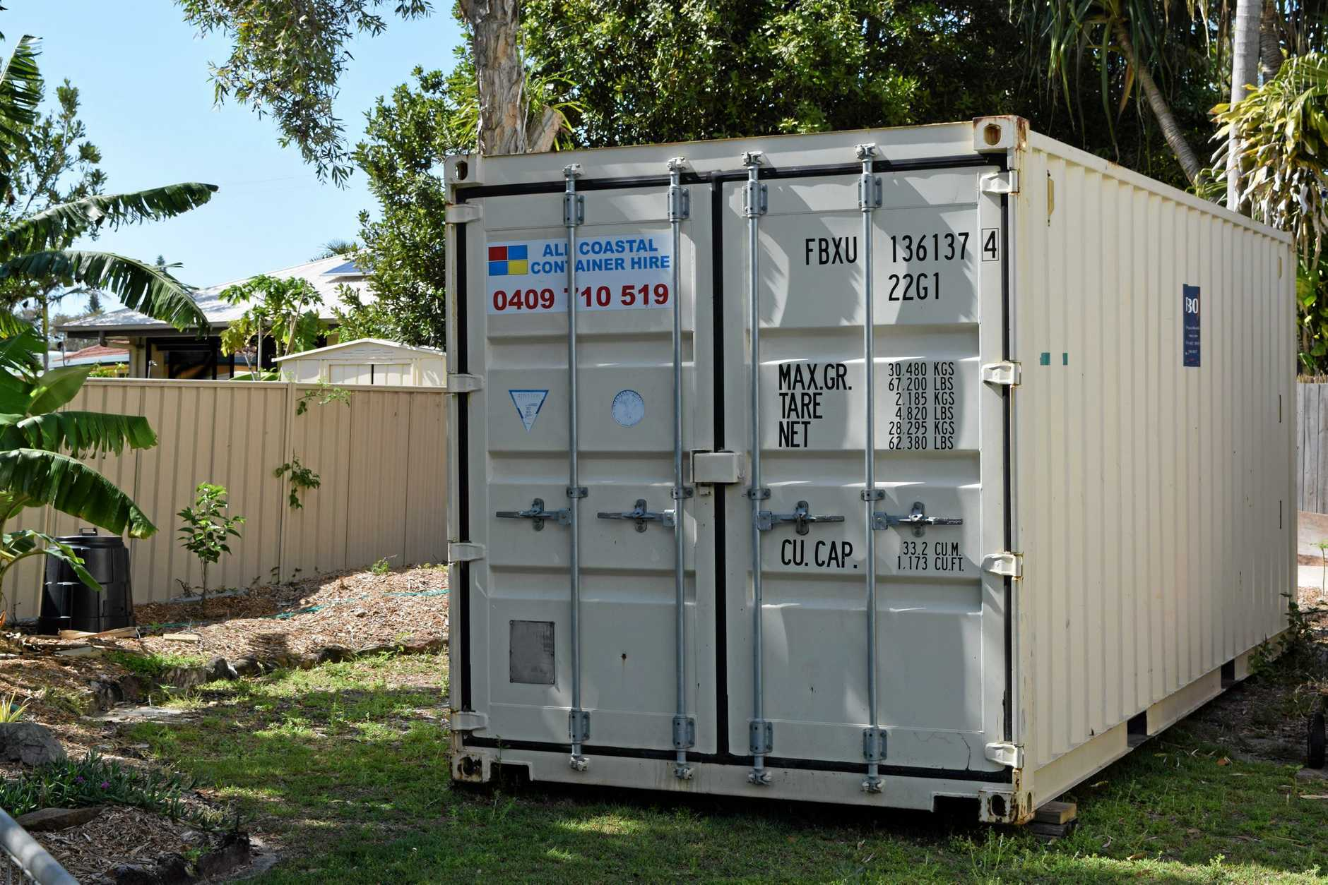 File image of a shipping container.