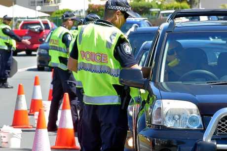 Police conducting a Random Breath Test operation.