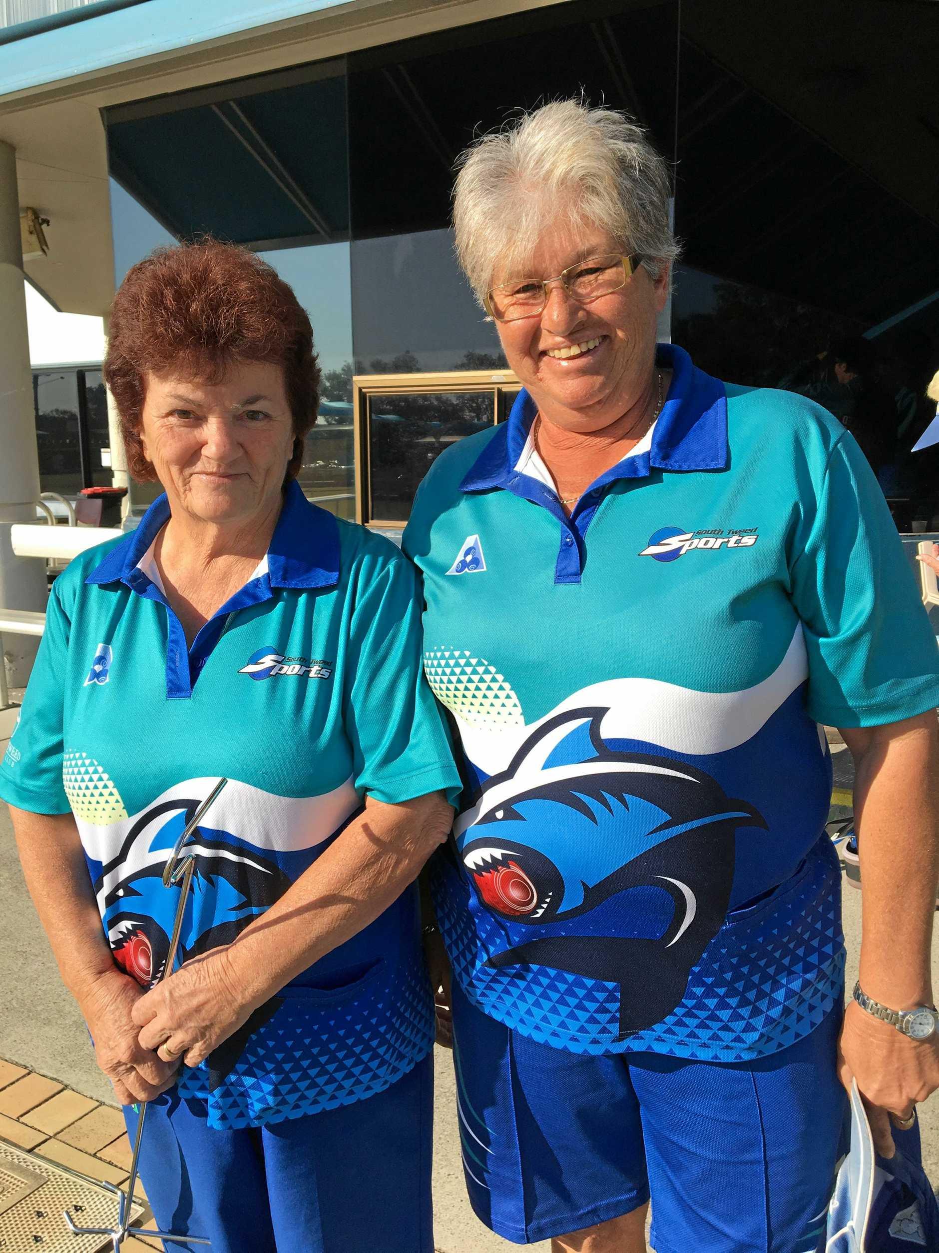 CLUB CHAMPIONS: South Tweed Bowls Club Ladies Pairs champions Sally Hickman And Cheryl Moran.