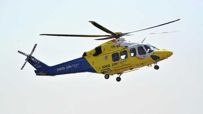 Teenager airlifted after serious motorbike rollover