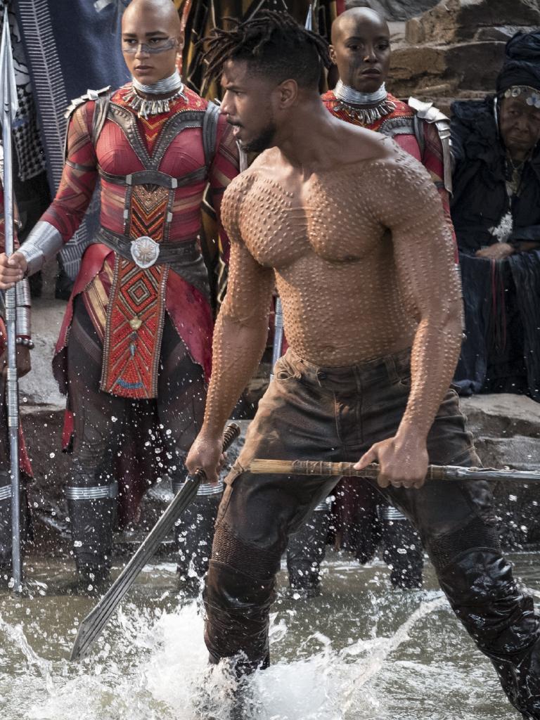 Michael B. Jordan in Black Panther. Picture: Matt Kennedy/Marvel Studios