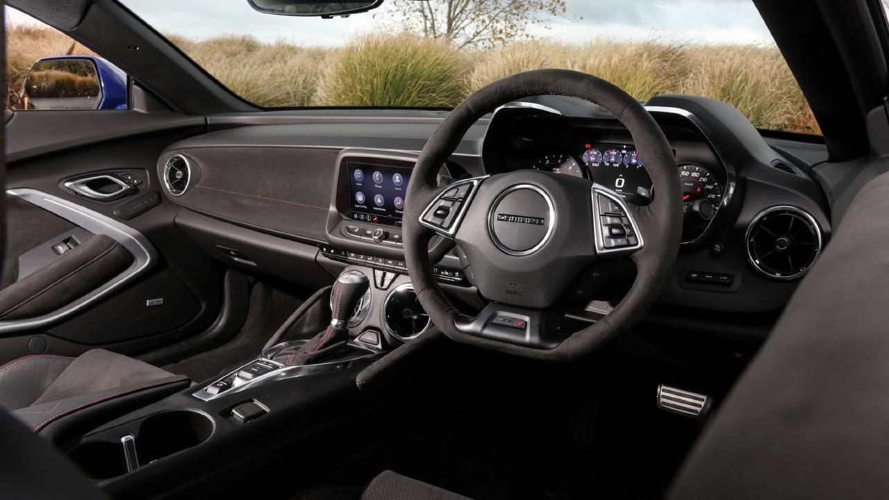 The interior has some quirks from the right-hand drive conversion.