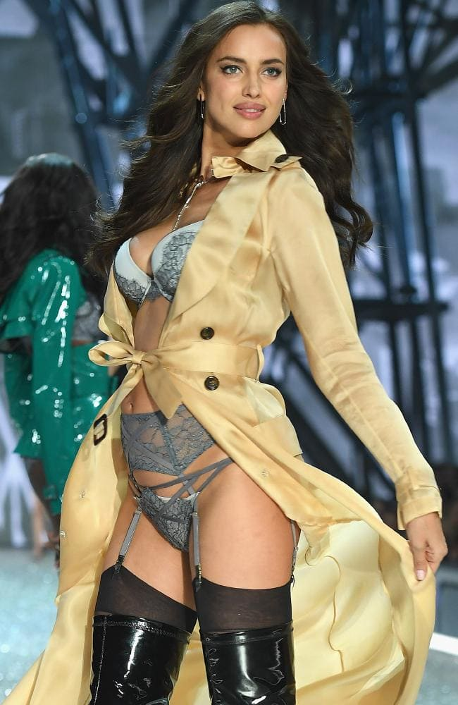 Irina Shayk walks during the 2016 Victoria's Secret Fashion Show. Picture: Getty