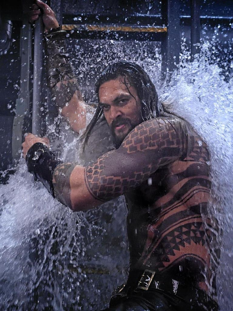 Jason Momoa as Aquaman. Picture: Jasin Boland/Warner Bros
