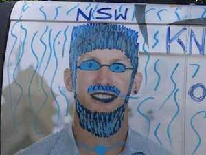 Lockyer defaced but Origin joke backfires on Blues prankster