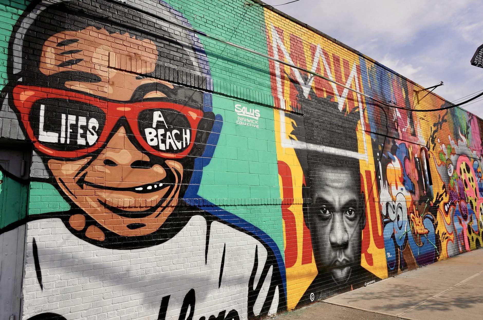 Street art in Bushwick, New York.