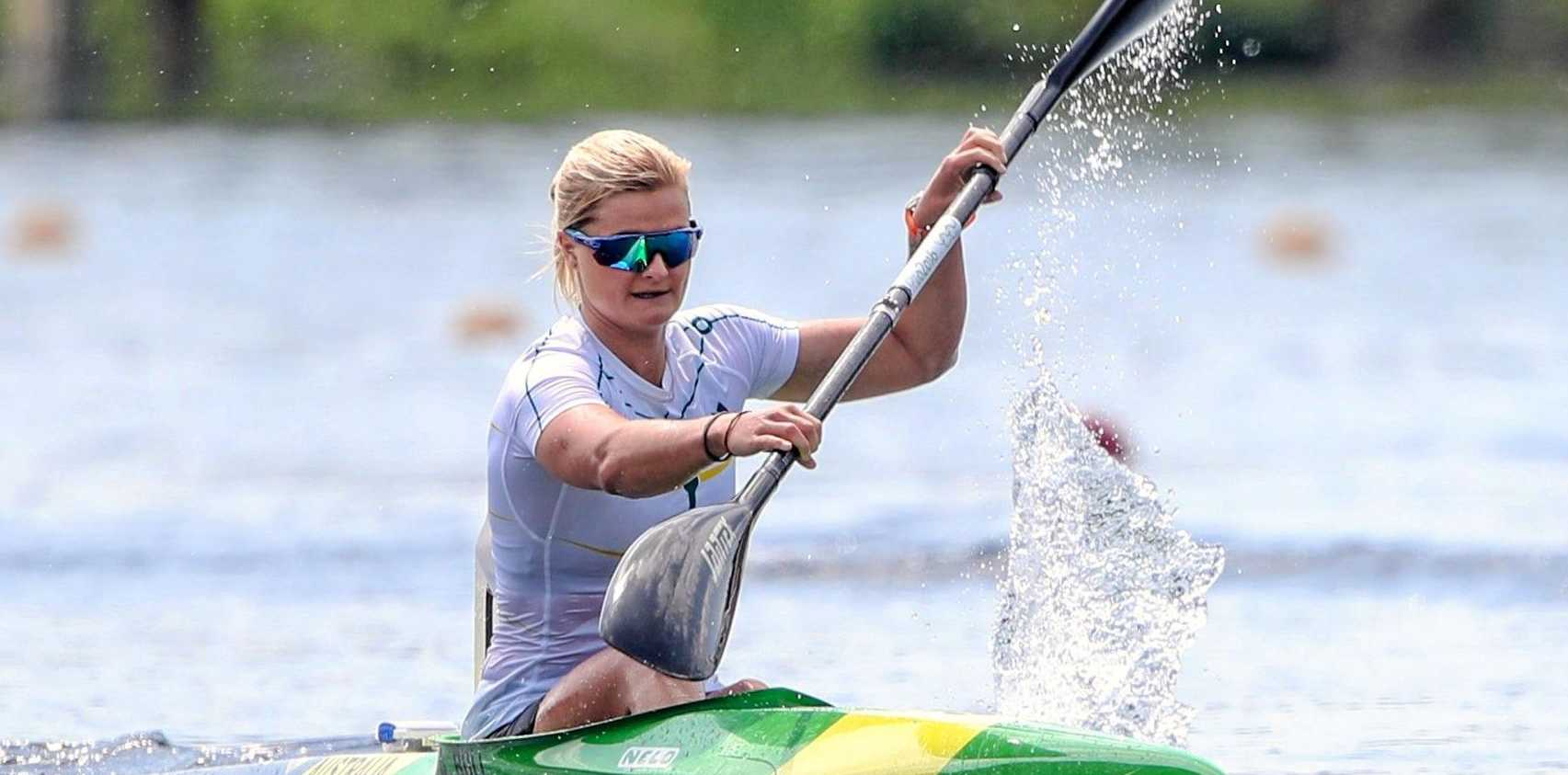 STAR: Alyssa Bull won gold in the K1 1000 at the Canoe Sprint World Cup II in Duisburg, Germany.