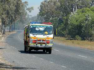 Truck catches fire on Warrego Highway