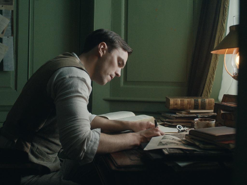 Nicholas Hoult as JRR Tolkien.