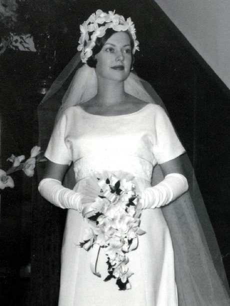 Joy Lamb on her wedding day