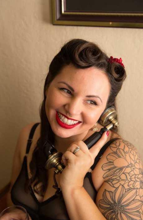 Jessie Sage is a phone sex operator. Picture: Dawn Hartman