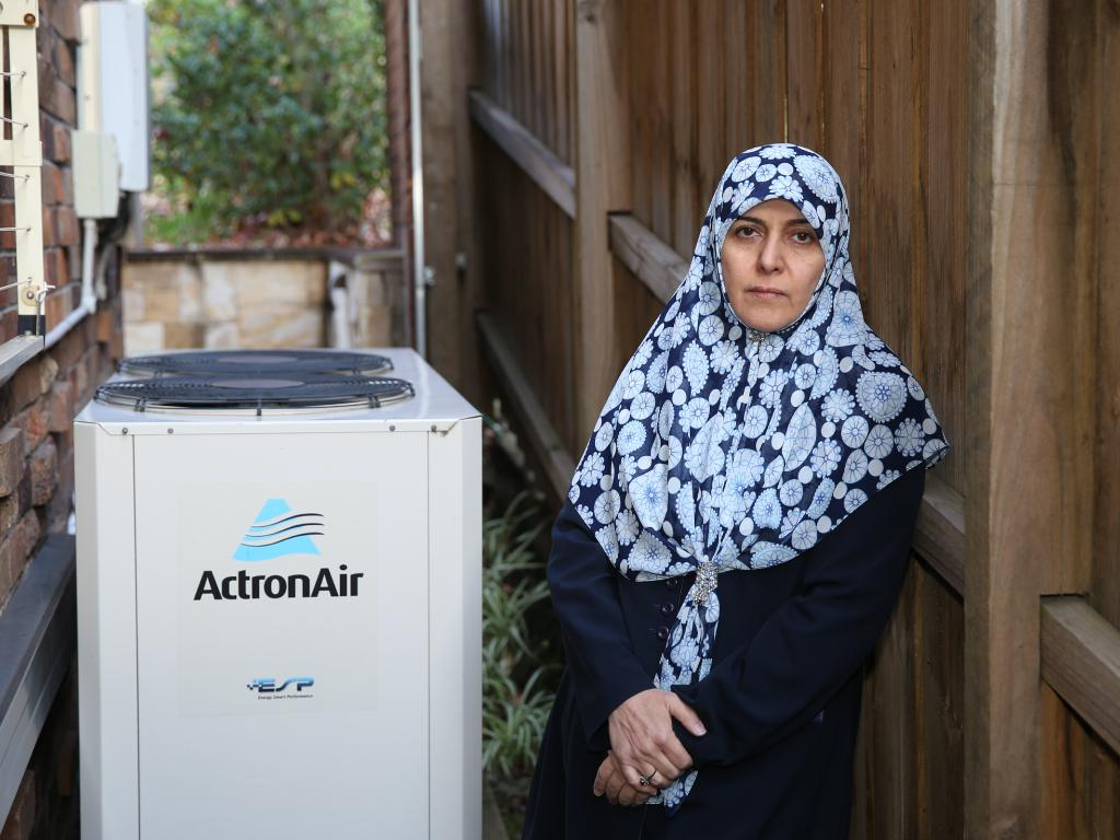 Dr Fatemeh Nazaran says she has every right to use her air conditioner at home. Picture: Tim Hunter