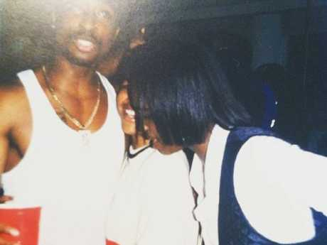 Tupac Shakur partying in LA at a Death Row records party. Picture: Supplied