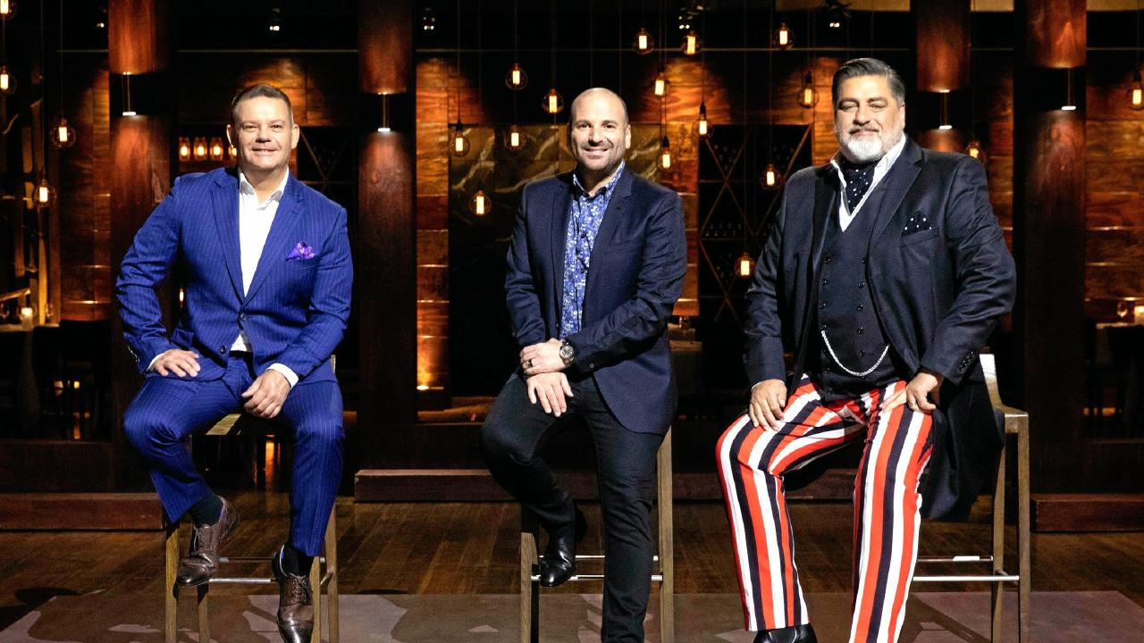 Looking dapper: MasterChef judges Gary Mehigan, George Calombaris and Matt Preston. (Picture: Channel 10)