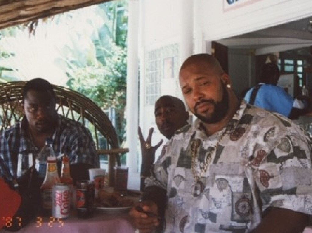 Tupac Shakur and Suge Kinght back in 1987. Picture: Supplied