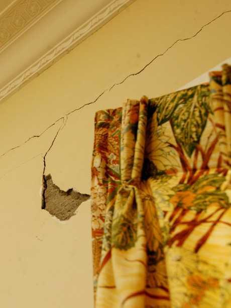 Cracks on an interior wall