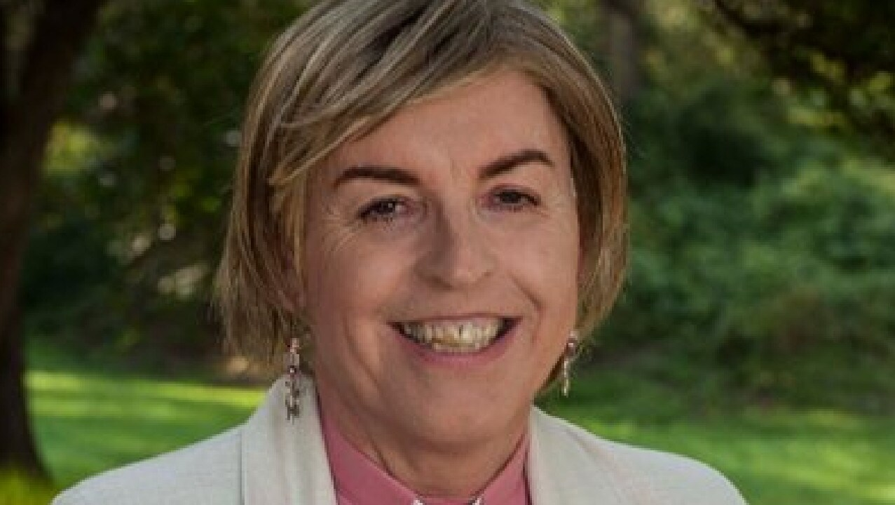 Anglican priest Jo Inkpin spoke to students at St Aidan's Anglican Girls School. Picture: Twitter