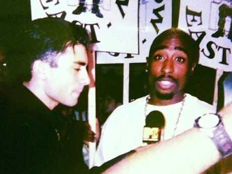 Tupac Shakur three days before he was killed. Picture: Supplied