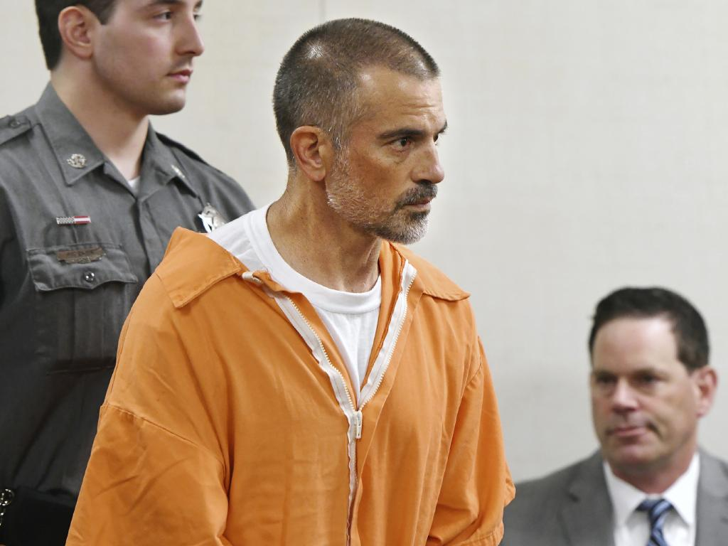 Fotis Dulos is arraigned on charges of tampering with or fabricating physical evidence and first-degree hindering prosecution at Norwalk Superior Court in Connecticut. Picture: AP