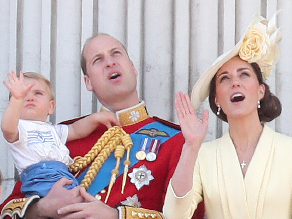 Prince Louis, Prince George, Prince William, Duke of Cambridge, Princess Charlotte and Catherine, Duchess of Cambridge. Picture: Chris Jackson/Getty Images