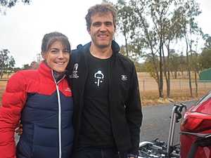 Kyra and Kris Sherrin ready to race.