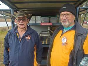 Des Day and Paul Drake from the Stanthorpe Lions