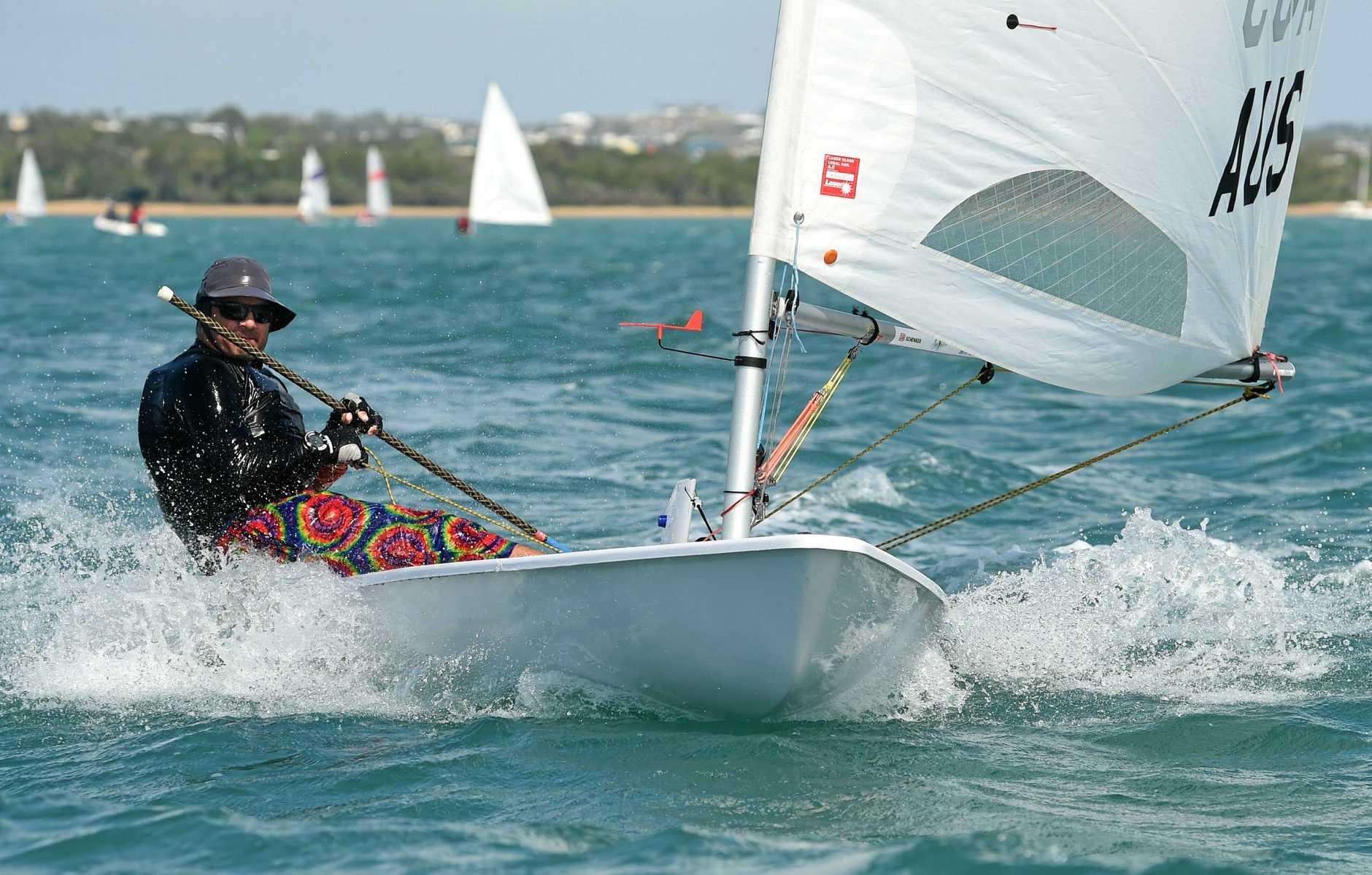 Maryborough Sailing Club 88th Easter Regatta - Chris Barnes on his Laser