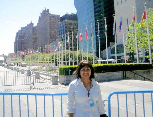 CQUniversity academic Sandra Creamer in New York.    Photo: Contributed