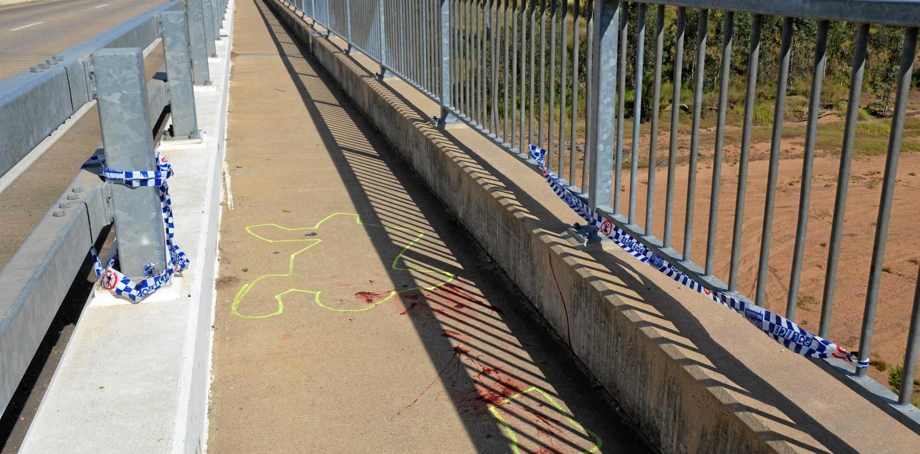 MYSTERY: The 'crime scene' on the Leo Baker bridge in Gayndah.