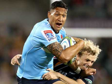 Israel Folau's sacking has rocked both the Wallabies and the Waratahs. Picture: Mark Metcalfe/Getty