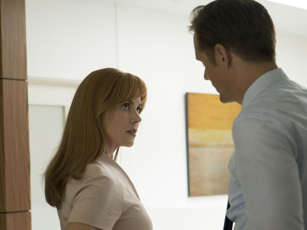 Nicole Kidman, left, and Alexander Skarsgard in Big Little Lies. Picture: Hilary Bronwyn Gayle/HBO via AP