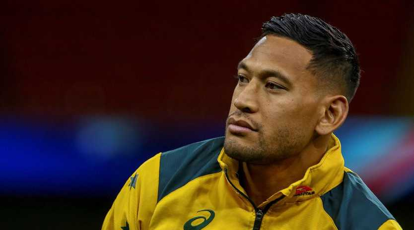 Israel Folau's Waratahs teammates have opened up on the impact his protracted contract termination has had on their season. Picture: AFP