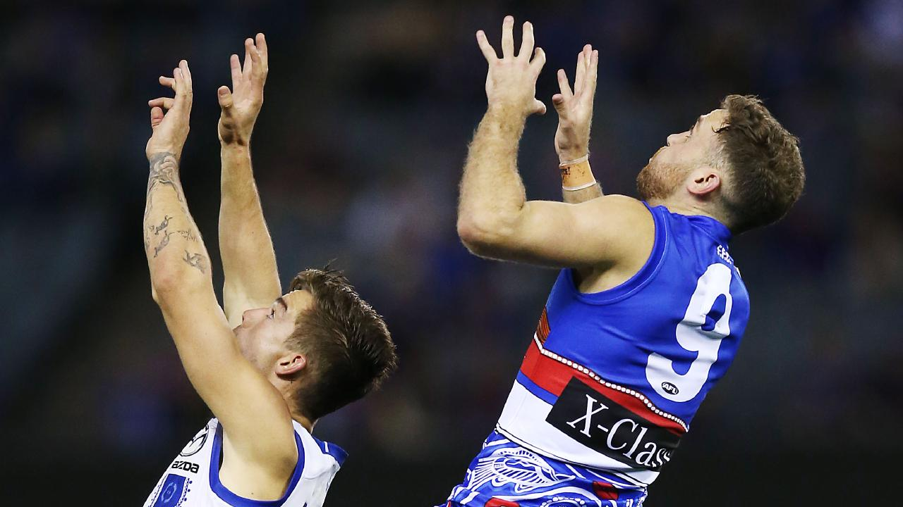 High-flying Hayden Crozier could return from a toe injury in Round 13 after Western Bulldogs bye. Picture: Michael Dodge/Getty Images.