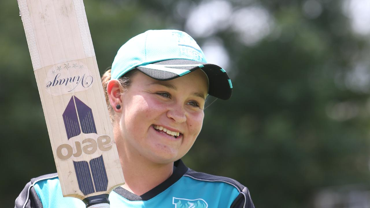 French Open tennis champ Ashleigh Barty pictured in her cricket days. Picture: Annette Dew