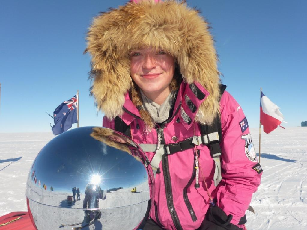 Teenager Jade Hameister, who turned 18 just last week, and pictured here in Antarctica, is the youngest person to make the Queen's Birthday honours list. Pic: Supplied