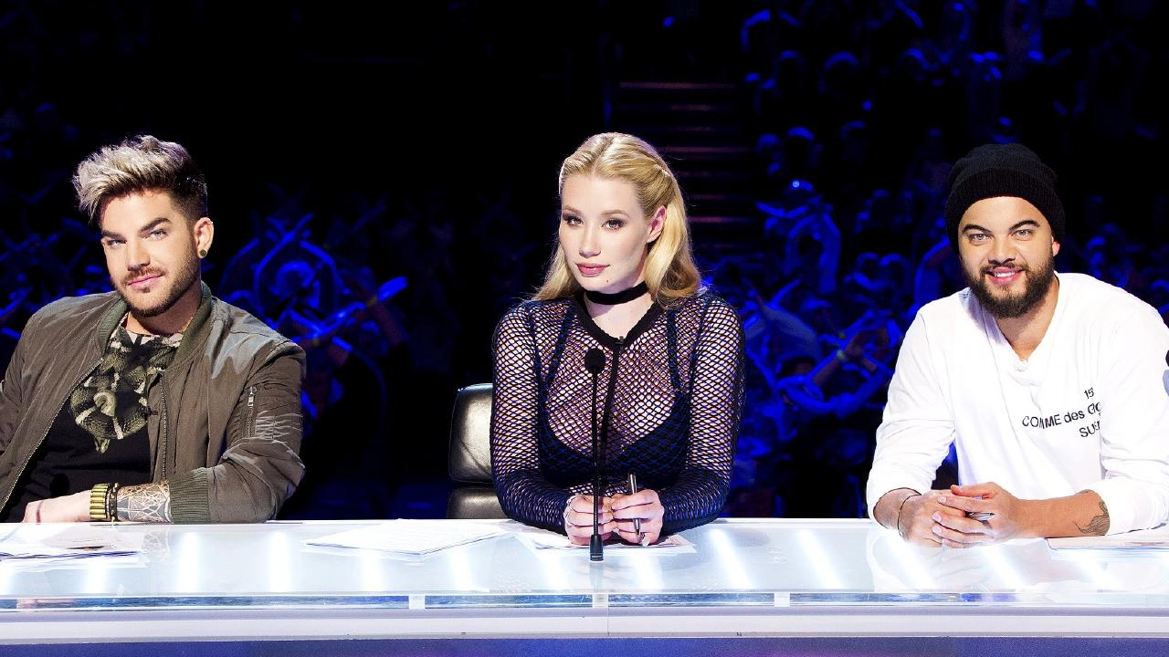 Adam Lambert, Iggy Azalea and Guy Sebastian on X Factor.