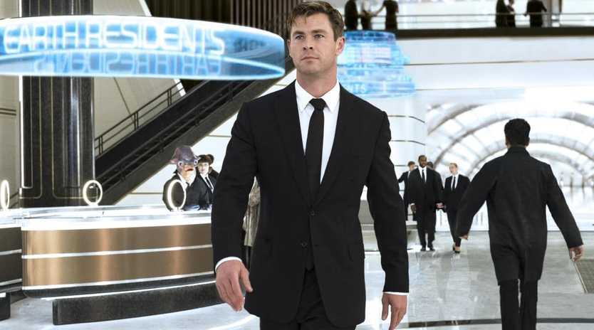 Chris Hemsworth in a scene from Men In Black: International.