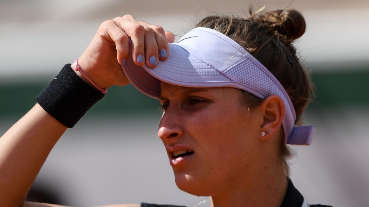 Czech Republic's Marketa Vondrousova lost the French Open final. Picture: AFP