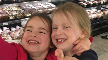 Darren Levin's very obviously non-identical twin daughters. Picture: Supplied