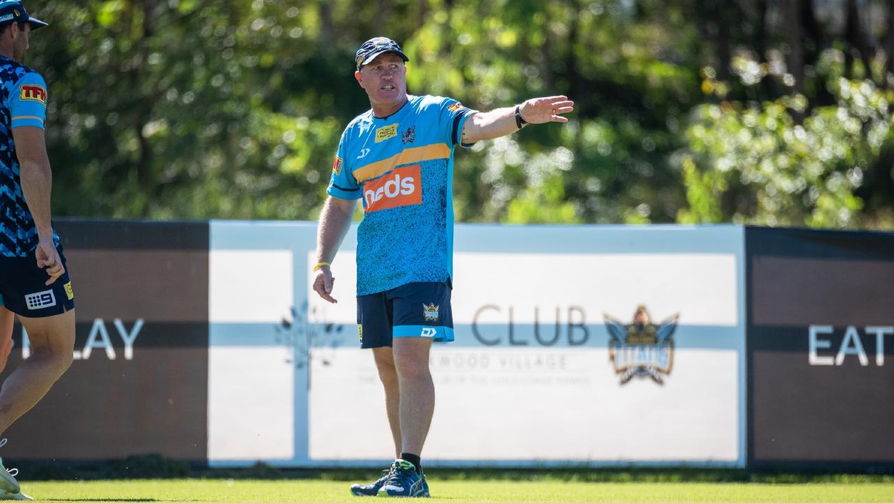 Garth Brennan at training. Picture: Gold Coast Titans