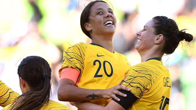 Sam Kerr will be crucial to Australia's chances tonight.